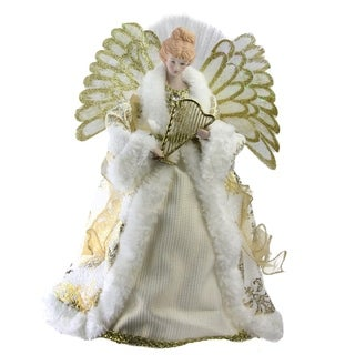 Fiber Optic Angel in Gown Christmas Tree Topper