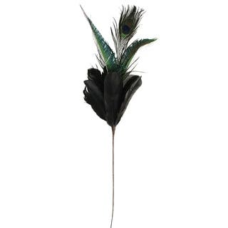 """22.75"""" Plumage with Peacock Feather Christmas Pick https://ak1.ostkcdn.com/images/products/18525418/P24634390.jpg?impolicy=medium"""