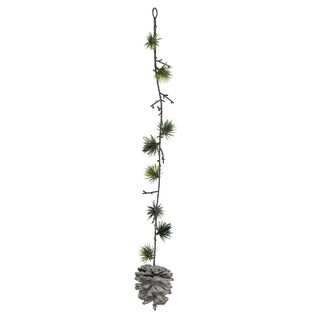 """20"""" Pine Needle Sprig and Pine Cone Hanging Spray"""