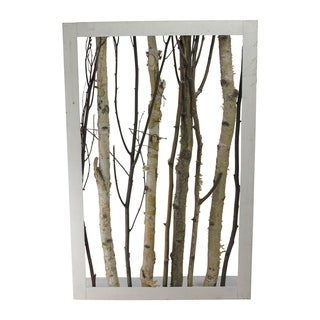 """28.25"""" Branches in a Wooden Frame Wall Decoration"""