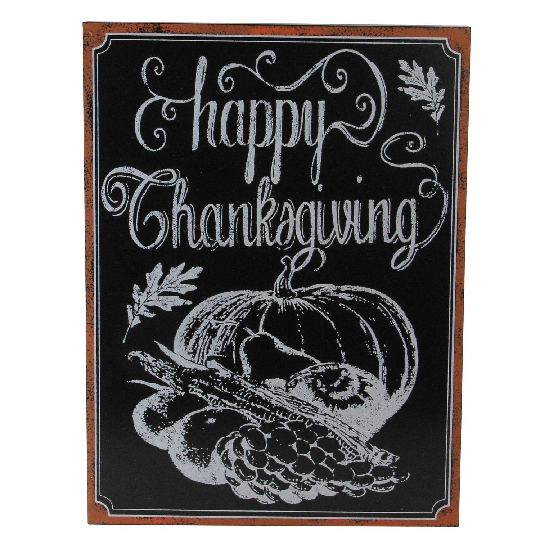 Shop Framed Happy Thanksgiving Chalkboard Wall Art Overstock 18525455