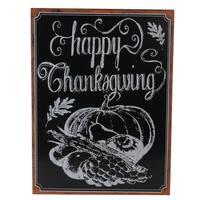 Framed Happy Thanksgiving Chalkboard Wall Art