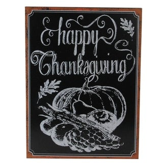 Framed Happy Thanksgiving Chalkboard Wall Art