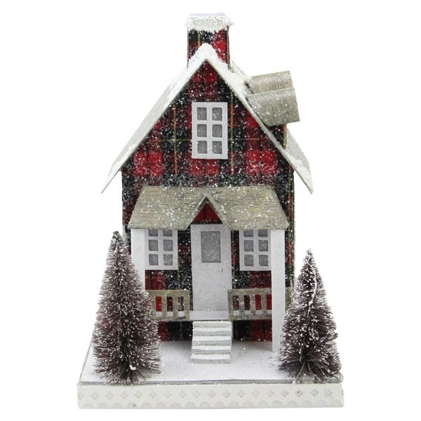 95 holiday tartan house christmas decoration