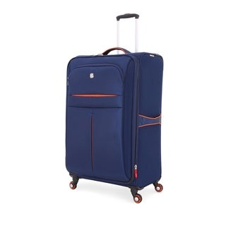 SwissGear Navy/Orange 28- inch Lightweight Sofside Spinner Suitcase