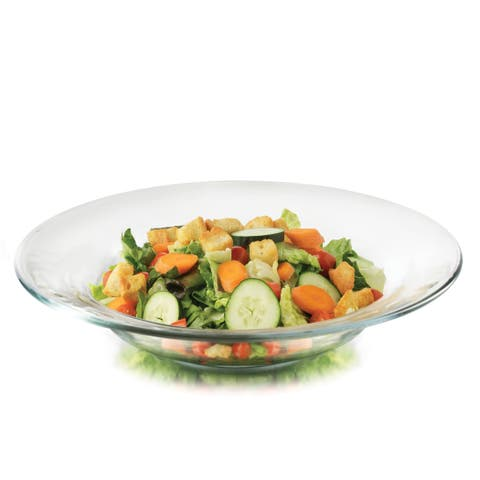 Libbey Moderno Glass Salad Bowls, Set of 12