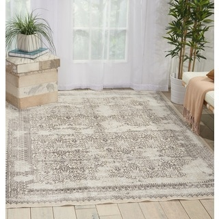 Noursion Kathy Ireland Silver Screen Grey Area Rug (9' x 12')