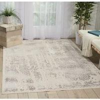 Nourison Kathy Ireland Silver Screen Ivory/Grey Area Rug