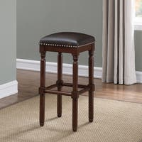 Windsor Dark Cherry Backless Counter Stool by Greyson Living