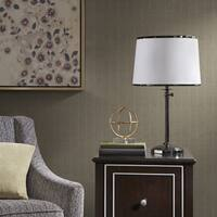 Madison Park Signature Elliot White/ Black 29-inch Table Lamp with Tappered Shade