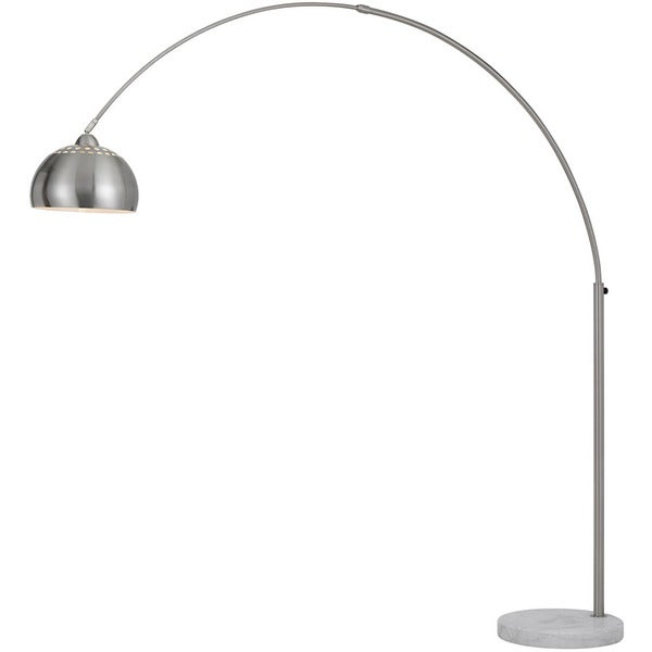 AF Lighting Brushed Nickel Orb Floor Lamp