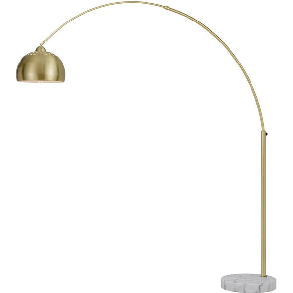 Af Lighting Orb Brushed Gold Metal 100 Watt 1 Light Floor Lamp With Shade And Marble Base Free Shipping Today 18525936