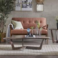 Ink+Ivy Boomerang Brown Acacia Veneer/Rubberwood Coffee Table