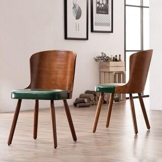 Corvus Calvados Mid-Century Modern Bamboo Dining Chair (Set of 2)