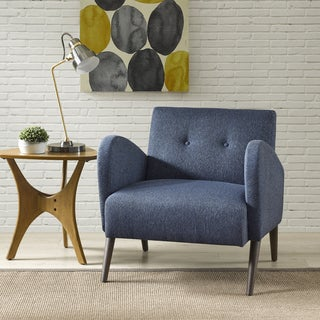 Ink+Ivy Ezra Blue Wood Lounge Chair