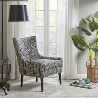 Madison Park Roth Black Wood Accent Chair