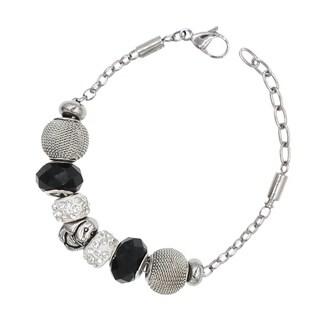 """BeSheek Jewelry """"Pretty Pup"""" Silver European-Style Interchangeable Charm Bead Fashion Bracelet"""