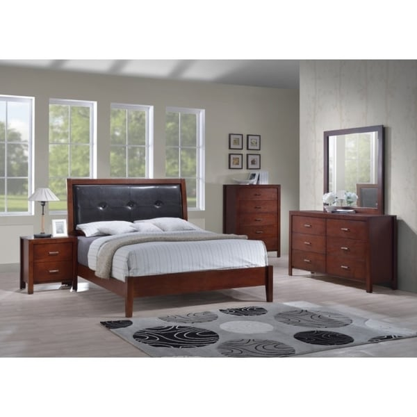 Delicieux Best Quality Furniture Traditional Cherry 6 Piece Panel Bedroom Set