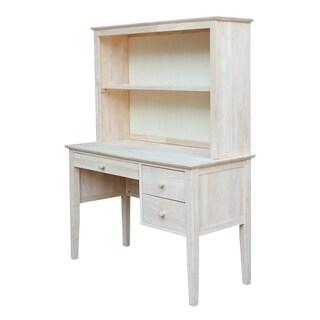 International Concepts Brooklyn Desk with Hutch