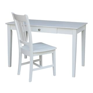 International Concepts Desk with Drawer and Chair