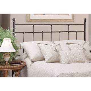 Providence Antique Bronze Metal Full/Queen Headboard Bed With Rails