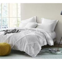 BYB White Gathered Ruffles - Handcrafted Series Comforter