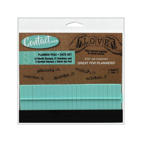 Contact USA Planner Date Set Black Pad