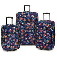 Elite Luggage Owls 3-piece Expandable Rolling Luggage Set