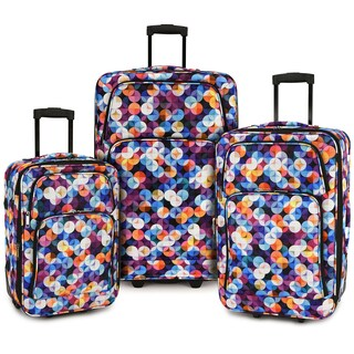 Elite Luggage Gem Bubbles 3-peice Expandable Softside Rolling Luggage Set