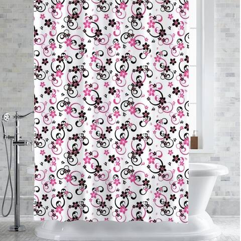 "Adriana Floral Print PEVA/EVA Shower Curtain/Liner 70""x72"""