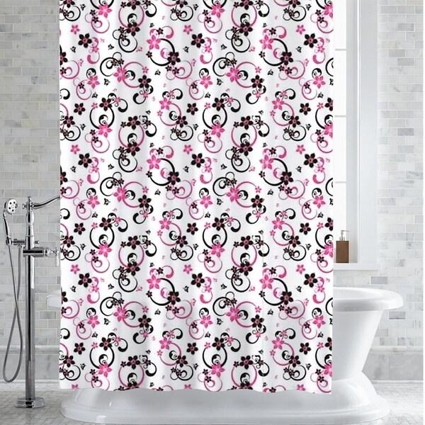 Shop Adriana Floral Print PEVA EVA Shower Curtain Liner 70x72