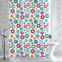 "Alexia Floral Print PEVA/EVA Shower Curtain/Liner 70""x72"""