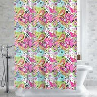 "Lilly Paisley Floral Print PEVA/EVA Shower Curtain/Liner 70""x72"""