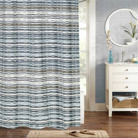 "Charisma 100% Cotton Woven Jaqcuard Shower Curtain 70""x72"""