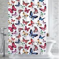 """Botanical Butterfly Print PEVA/EVA Shower Curtain/Liner 70""""x72"""""""