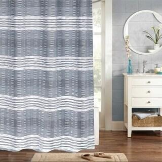 "Nadia 100% Cotton Woven Jaqcuard Shower Curtain 70""x72"" (Navy)"