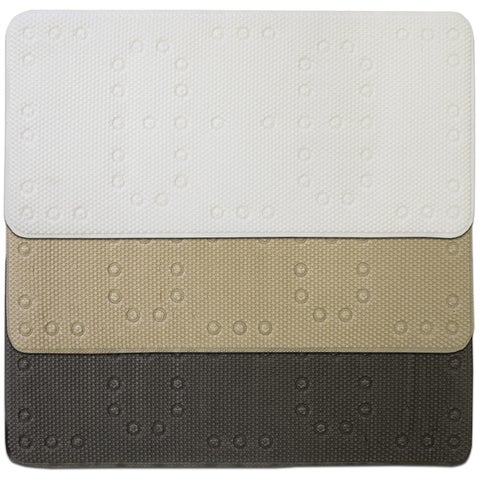 """Deluxe Waffle Tub Mat 17""""x36"""" (Grey, White or Taupe)"""