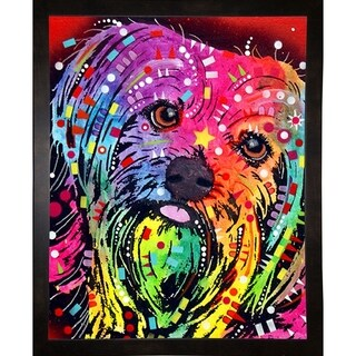 "Yorkie Framed Print 7.25""x5.75"" by Dean Russo"