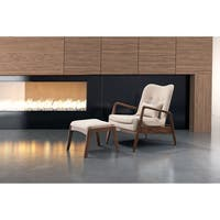 Shop Diamond Mid Century Modern Grey Upholstered Accent