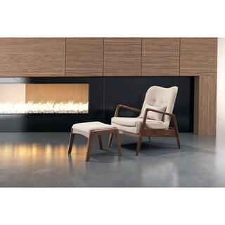 Bully Lounge Chair & Ottoman Beige