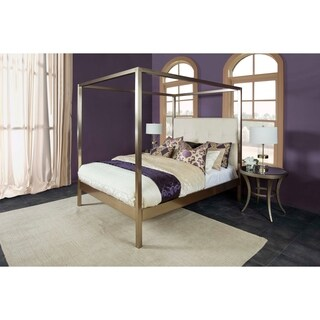 Avalon King Bed set Champagne Brass, Pearl