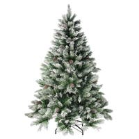 7' Angel with Pine Cones Artificial Christmas Tree