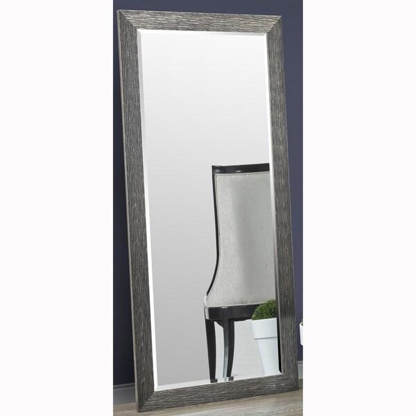 Faux Wood Flooring Reviews: Shop Black/Dark Gold Full Length Leaner Floor Mirror Faux