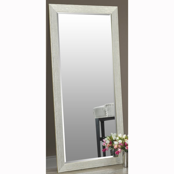 Faux Wood Flooring Reviews: Shop Gold Finish Full Length Leaner Floor Mirror With Faux