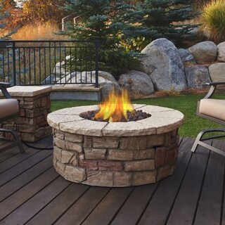 Sedona Round LP Gas Fire Table w/ Natural Gas Conversion Kit by Real Flame