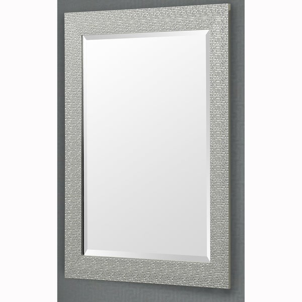 Shop Silver Finish Rectangular Beveled Vanity Wall Mirror
