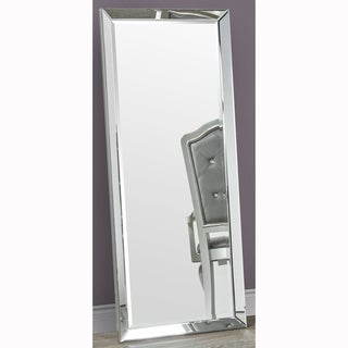 Full Length Leaner Beveled Floor Mirror with Beveled Mirror Frame