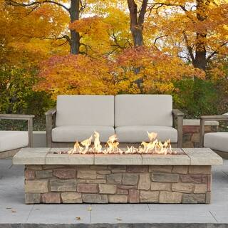 """Sedona 66"""" Rectangle LP Gas Fire Table with Natural Gas Conversion Kit