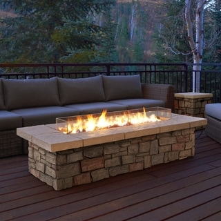 Sedona Rectangle LP Gas Fire Table w/Natural Gas Conversion Kit by Real Flame