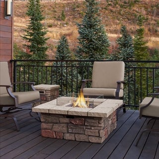 Sedona Sq LP Gas Fire Table w/Natural Gas Conversion Kit by Real Flame